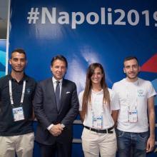 Fiammetta Rossi con il presidente Giuseppe Conte