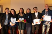 I finalisti dell'edizione 2019 del Premio FulgineaMente insieme a Ivana Donati