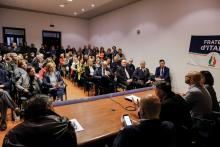 Presentazione lista Fratelli d'Italia per le comunali 2019 di Foligno