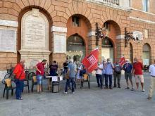 La manifestazione del centrosinistra a sostegno dell'ospedale di Foligno