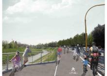 La nuova pista ciclabile di via XVI giugno