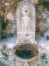 Una delle fontane oggetto del restauro a Rasiglia