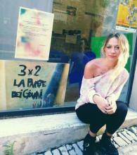 La giovane artista Alessia Aristei